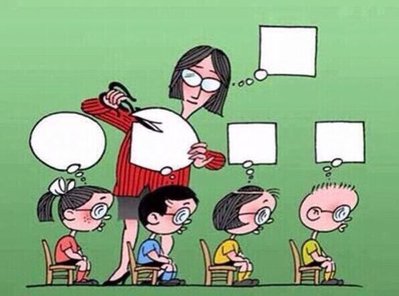 教育を受ける子供達