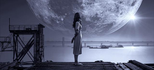 宇宙と女性