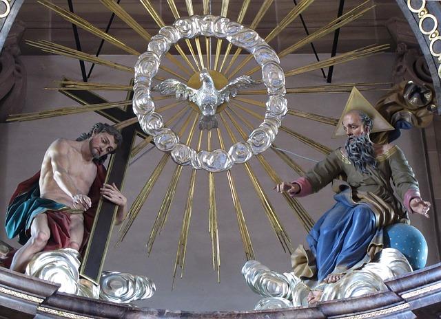 聖霊の銅像